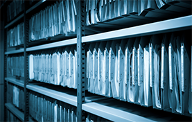 photo of rows of physical files
