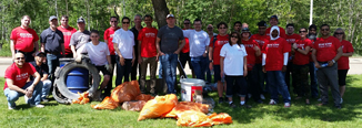 Edmonton Great Canadian Shoreline Clean Up.