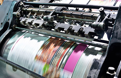 Photo of print production