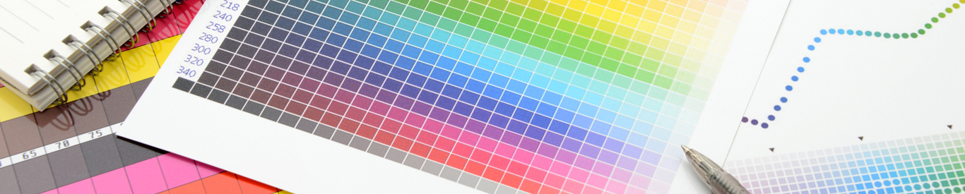 Color guide to match colors for printing.