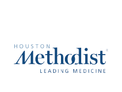 Houston methodis hospital logo.
