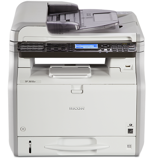 Sp 3610sf Black And White Multifunction Printer