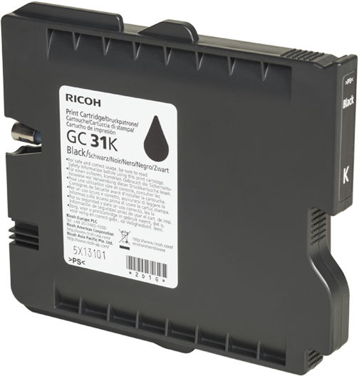 RICOH Black Print Cartridge GC 31K